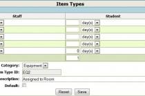 OPALS Equipment Item Loan Parameters